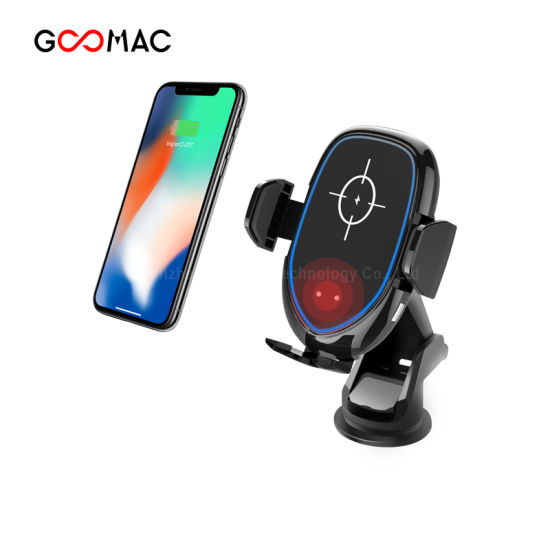10W Fast Wireless Automatic Car Charger Qi Charger for Mobile Phone Goomac Wireless Charger