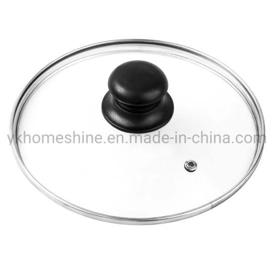 Hot Seller Stainless Steel Tempered Cookware Glass Pot Lids