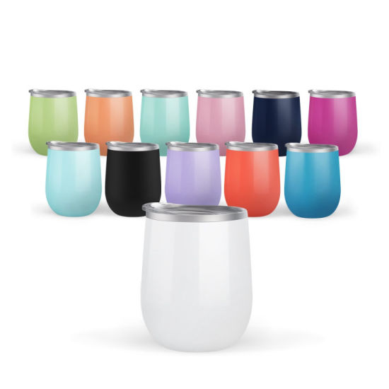 Glazed Stainless Steel Insulated Egg Shape Cup Corkcicle 12oz Tumbler Without Straw
