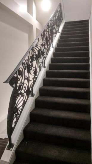Indoor Wrought Iron Stair Railing /Interior Staircase Handrail