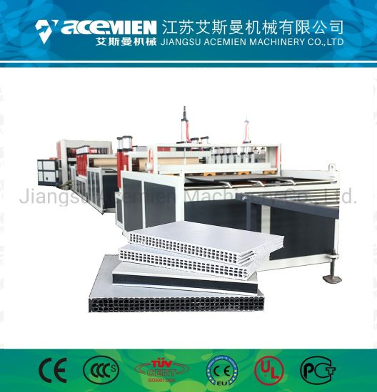 PP Plastic Hollow Construction Formwork Extrusion Making Machine pictures & photos