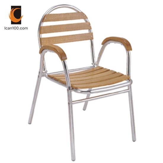 Phenomenal Light Weight Wholesale Garden Patio Furniture Aluminum Metal Teak Wood Slats Wooden Chair Dc 06310 Inzonedesignstudio Interior Chair Design Inzonedesignstudiocom