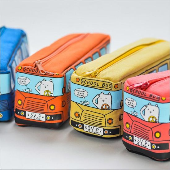Promotional Gift Cartoon Bus Pencil Case pictures & photos