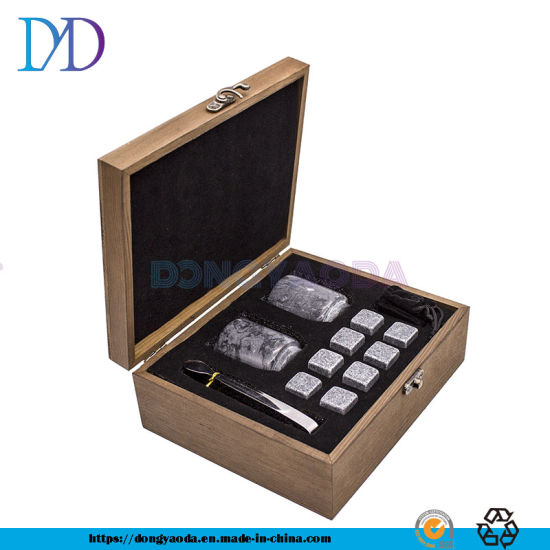 High Quality Hot Selling Beer Wine Dice Ice Cube Whiskey Stones Box Gift Set