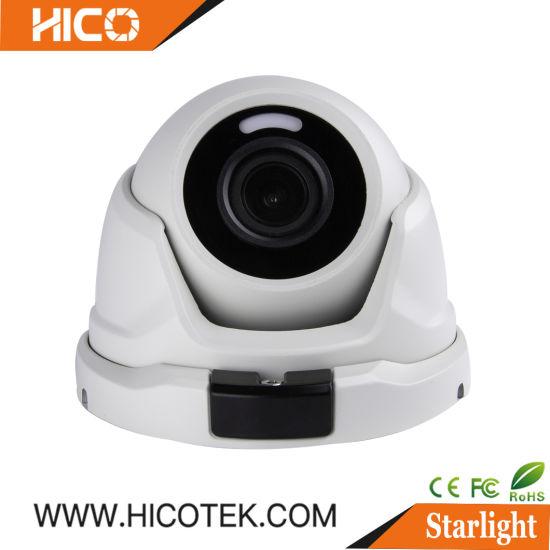 Sony Smart Starlight Full Color Starvis IP CCTV Ahd Tvi Cvi White LED IR Outdoor Waterproof Dome Camera