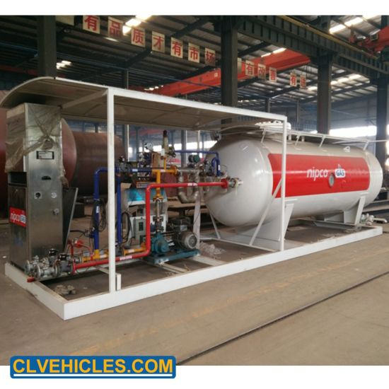 5ton LPG Mounted Station Mobile LPG Gas Filling Station Plant for Nigeria