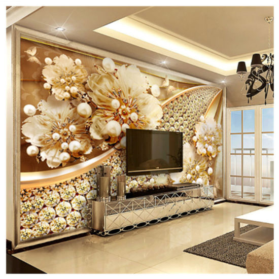 Guangzhou Home Decoration Customize Golden Wallpaper Mural