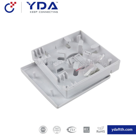 FTTH Indoor 86 Face Box 2 Ports Sc Fiber Optical Terminal Splice Box with Adapter