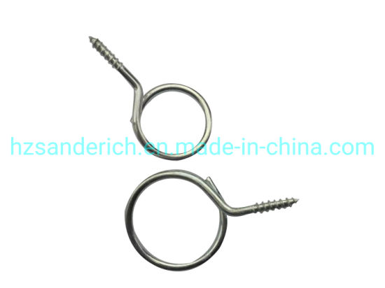 2 Inch Wood Bridle Ring Steel Zinc for Electrical Installation and Datacom & Telecom Applications