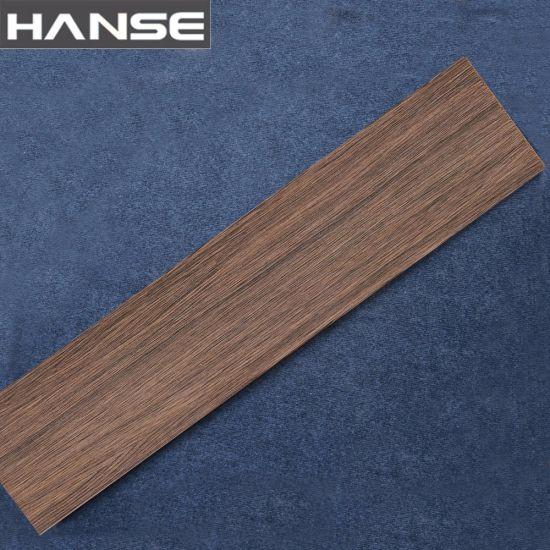 China Wood Color Dark Brown Slate Orient Ceramic Floor Tile China