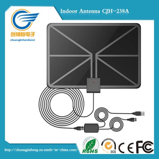 Digital HD TV Antenna - Indoor Ota (Over the Air) VHF / UHF HDTV Receiver