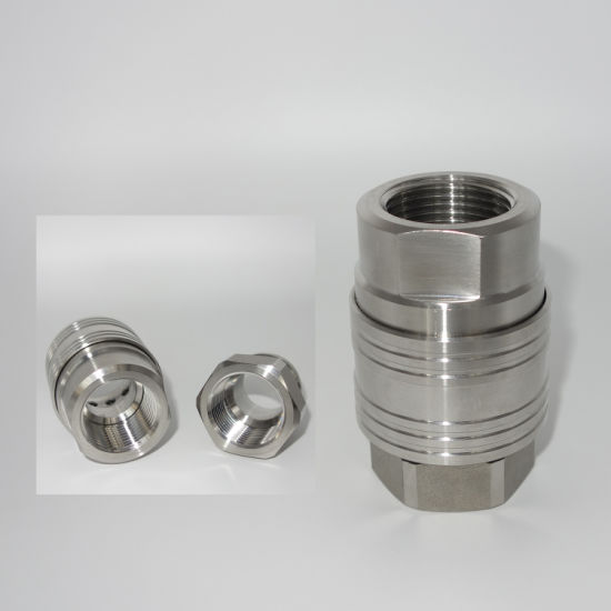 No Valve Series Straight Stainless Quick Coupling