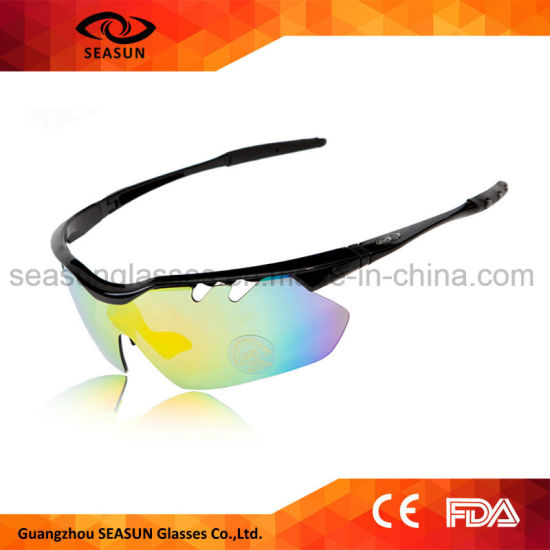 13667eac55 Trendy Men and Women Cycling Glasses Mirror UV Proof Polarized Running Sports  Sunglasses