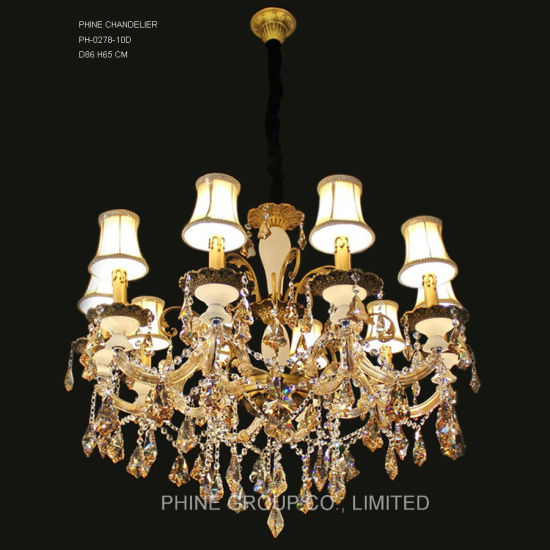 Hot Item Phine 10 Arms Modern Swarovski Crystal Decoration Pendant Lighting Fixture Lamp Chandelier Light
