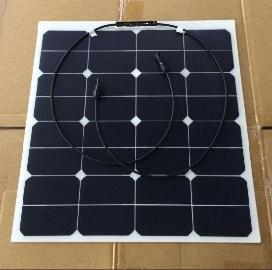 50W Semi Flexible Solar Panel, Sunpower Solar Panel