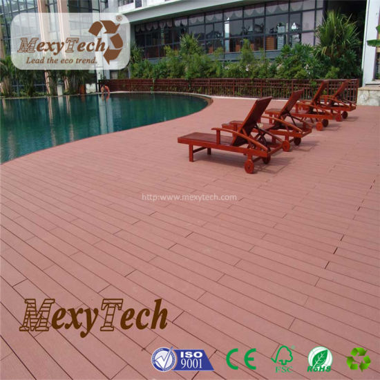 Low Price European Fire Resistant Flooring WPC Decking Board for Sale pictures & photos