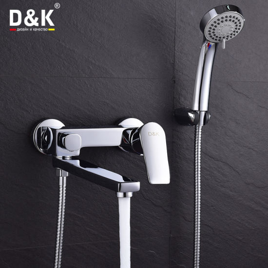 High Quality Brass Long Spout Shower/Bath Faucet With Shower Kit
