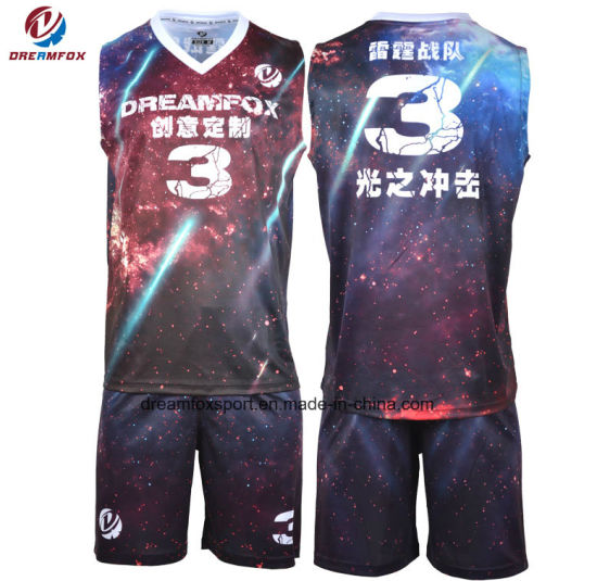 Custom Wholesale OEM Reversible Basketball Jersey Uniforms pictures & photos