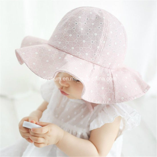 a80d44df021 China Baby Summer Outdoor Bucket Hat Children Floral Print Panama ...