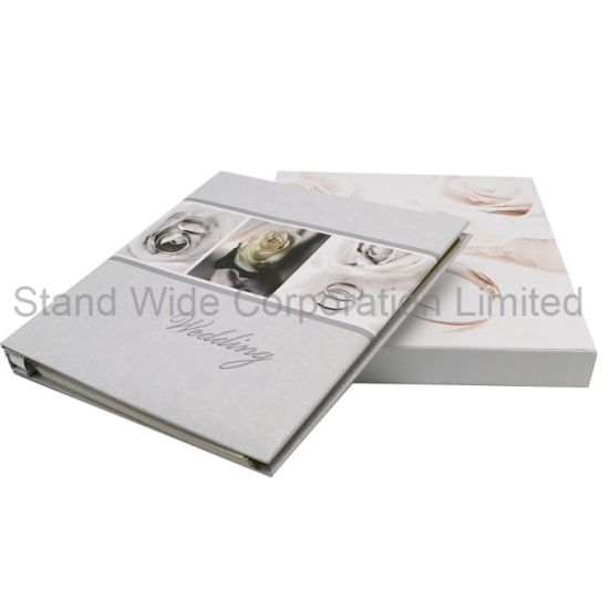 China Self Adhesive Sheets Wedding Photo Album With Paper Box