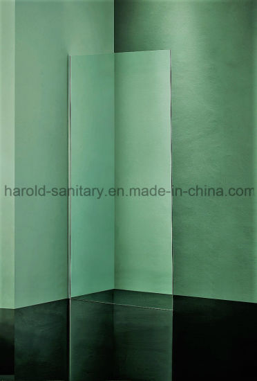 Hr-024 Walk-in Shower Screen with Stainless Steel Support Bar