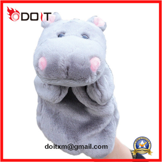 Hippo Plush Animal Hand Dolls Soft Plush Hand Puppet Toy pictures & photos