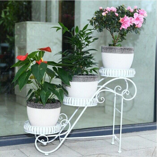 Flower Stand Designs : China new design tier wrought iron flower shelf china flower