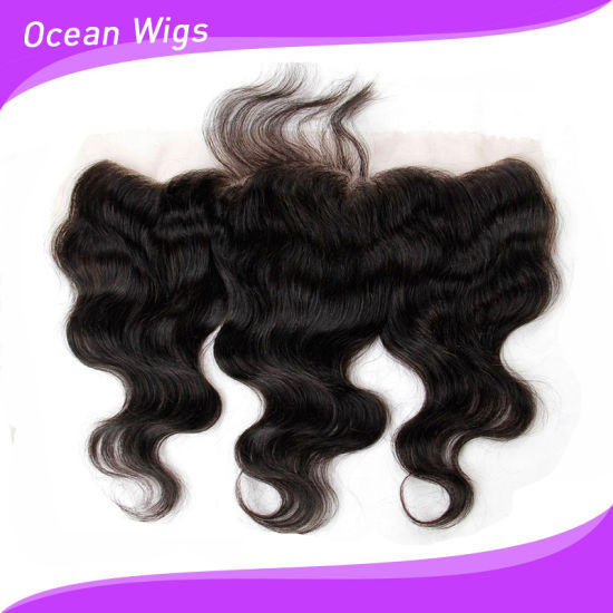 Brazilian Virgin Hair Lace Frontal, 13X4 Body Wave Lace Frontal Closure, Ear to Ear Full Lace Frontal and Closures with Baby Hair pictures & photos