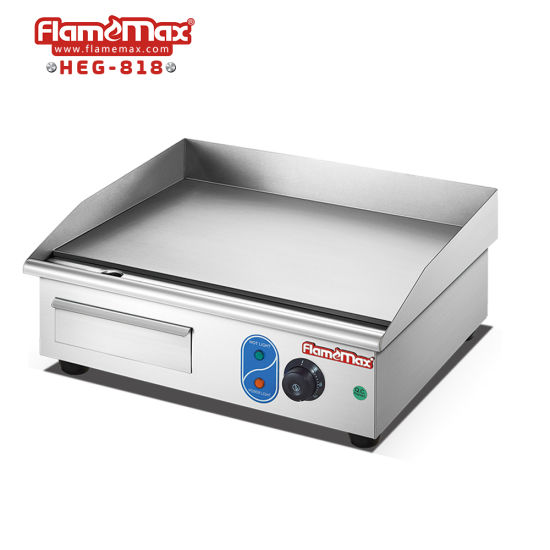 Kitchen Equipment Commercial Counter Top Flat Plate Electric Grill Griddle with Ce Certificate (HEG-820) pictures & photos