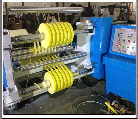Adhesive Paper Sticker Roll Slitting and Rewinding Machine (DC-FQJ) pictures & photos