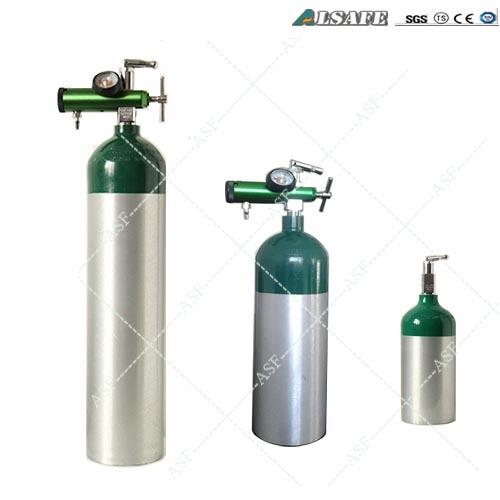 China 0 5l To 50l Aluminum Medical Oxygen Cylinder Size