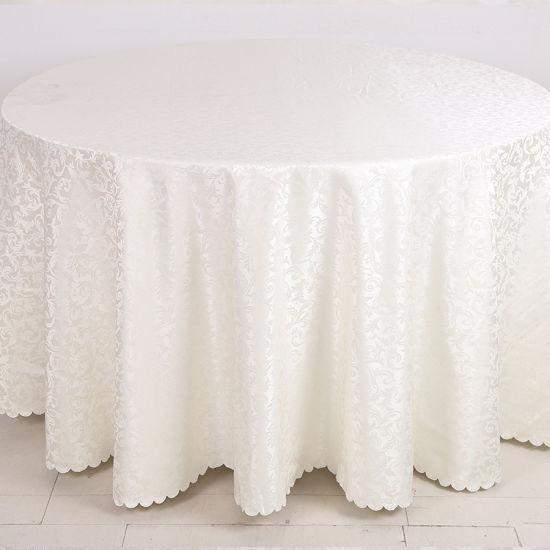 Factory Wholesale Hotel Linen White Color Hotel Table Cover pictures & photos