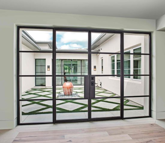 China Super Quality Custom French Steel Bifold Door With Glass