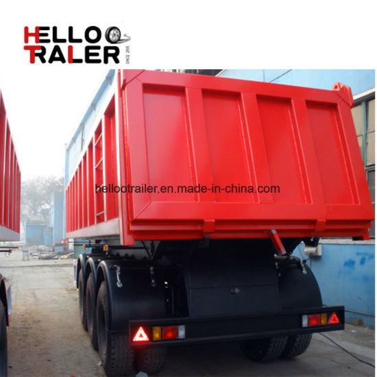 Hot Sale 3 Axles Tipper Semi Trailer and Rear Dump Semi-Trailer pictures & photos