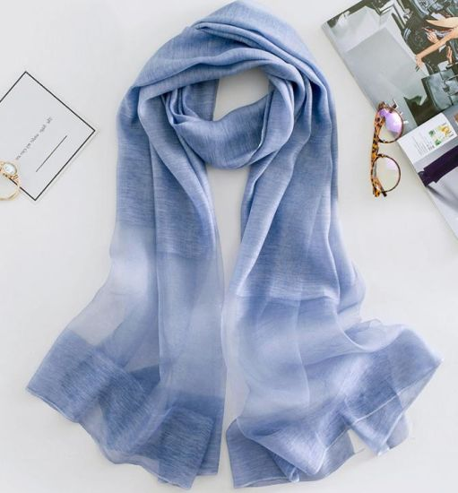 Ladies Silk Mixed Woven Long Scarves