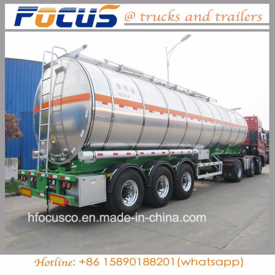 4 Compartments Fuel Aluminum Steel Trailer Truck for Middle East