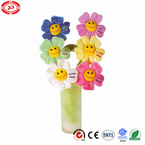 Flower Shape Cute Gift Plush Toy with Wire Decoration