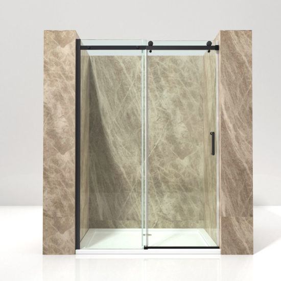 Color Aluminium Stainless Frame Toughened Glass Sliding Big Roller Shower Screen