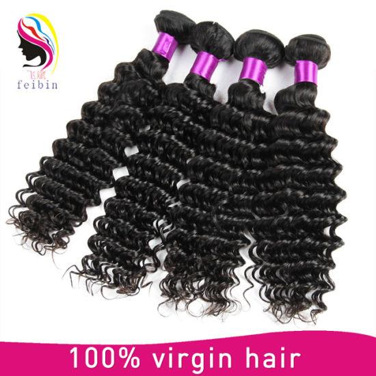 Cheap Virgin Deep Wave Brazilian Human Hair Extension