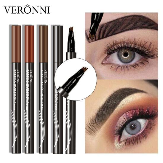 China VERONNI 4 Colors Eyebrow Pencil Makeup Waterproof Liquid Fork ...