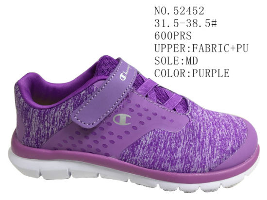 Girl's Shoes Kid Sport Shoes Velcro Stock Shoes
