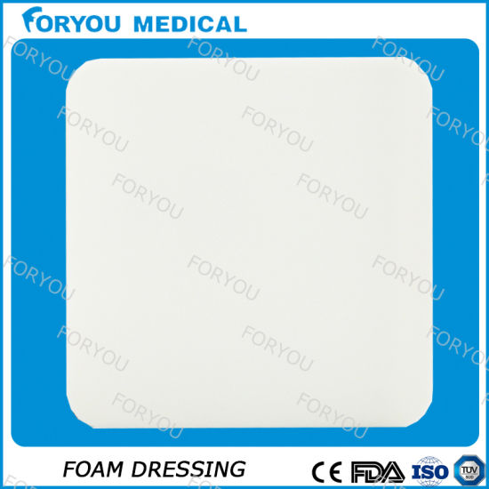 Antimicrobial Silver Inoic Foam Dressing PU Polyurethane pictures & photos