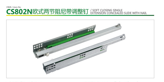 Soft Closing Full Extension Concealed Slide with Handle pictures & photos