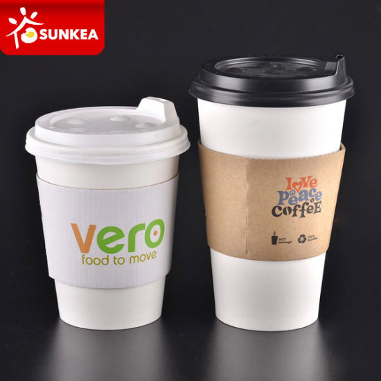 Custom Brand Printed Paper Coffee Cup Sleeves Wholesale pictures & photos