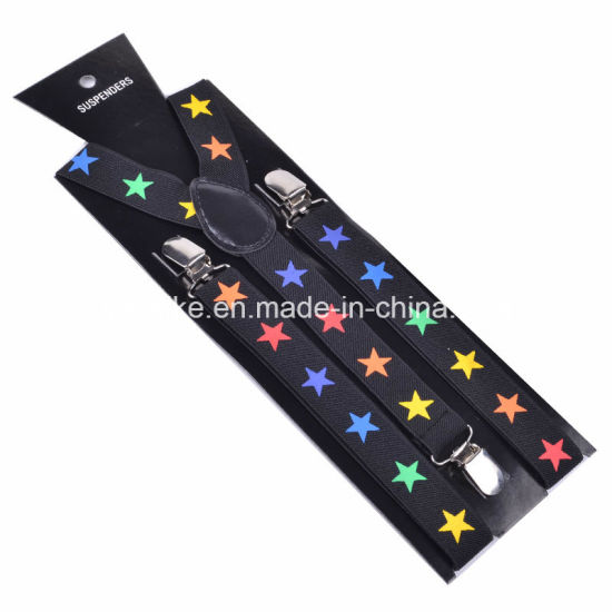 Unisex Fashion Print Y-Back Elastic Suspender 2.5*100cm (BD1009) pictures & photos