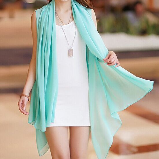 Fashionable Scarf Scarves Made of Polyester Chiffon Fabric
