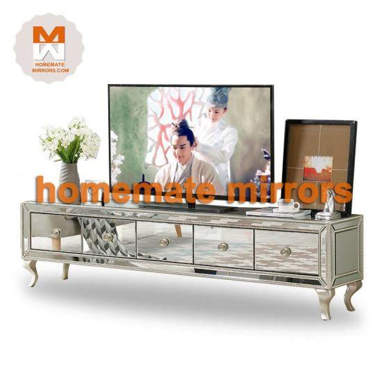 China Venetian Mirrored Tv Stand, Small Venetian Mirrored Sideboard