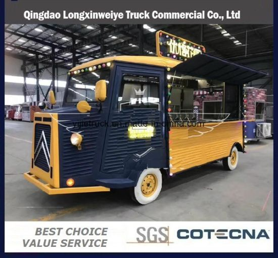 Hot Selling Citroen Vintage Food Truck Food Trailer with Competitive Price for Sale