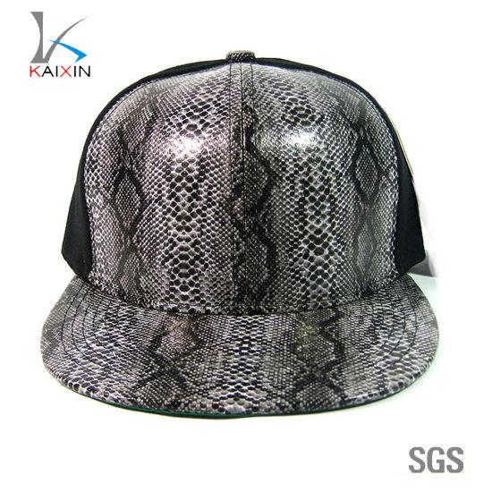 China Custom Plain Blank Snakeskin Leather Snapback Cap - China Baby ... 213247fb789
