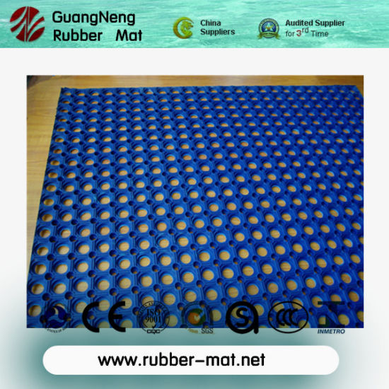 Waterproof/Anti-Static/ Acid Resistant /Big Hole Rubber Mat pictures & photos